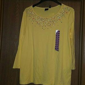 Rafaella embellished knit top
